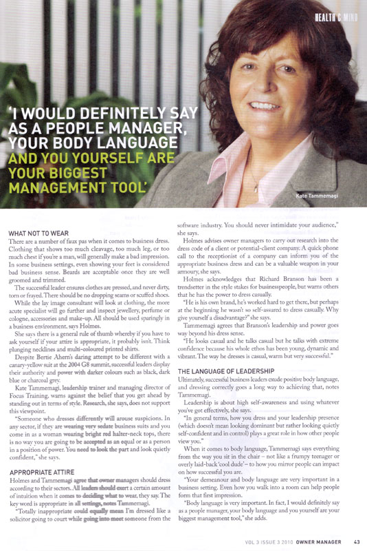 Owner Manager  Issue 2010 - 1 of 2